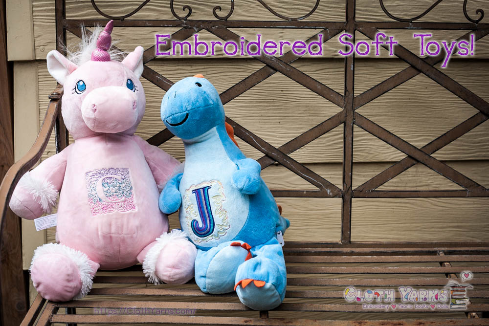 Embroidered Soft Toys now available