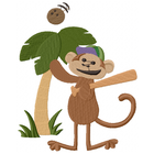 Little Mister Monkey plays ball