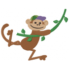 Little Mister Monkey Swings through trees