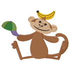 Little Mister Monkey has a snack