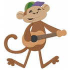 Little Mister Monkey Plays the guitar