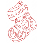 Redwork Stocking (Set)