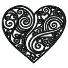 Doodle Heart Small - Outline