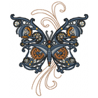 Steam Motif Butterfly