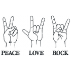 Peace Love Rock