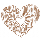 Woodgrain Heart
