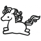 Too Cute Unicorn Large - Outline