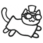 Steampunk Bacon Cat - Outline