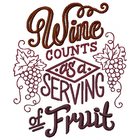 Wine counts as a serving of fruit