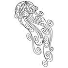 Doodle Jellyfish - Outline