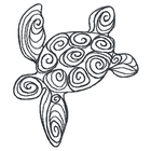 Doodle Sea Turtle Small - Outline