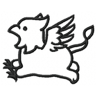 Too Cute Gryphon - Outline