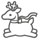 Too Cute Reindeer - Outline