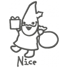 Too Cute Nice Gnome - Outline