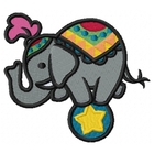 Too Cute Circus Elephant