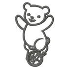 Too Cute Circus Bear - Outline