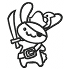 Pirate Bunny - Outline