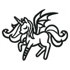 Dark Pegasus Small - Outline