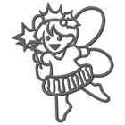Too Cute Sugar Plum Fairy Large - Outline (Set)