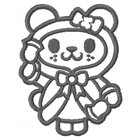 Christmas Bear - Outline