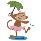 Little Miss Monkey Splash