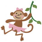 Little Miss Monkey Swings through trees