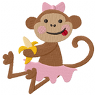 Little Miss Monkey has a Snack