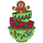 Gingerbread man in Teacup Stack (Set)