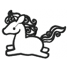 Too Cute Unicorn - Outline