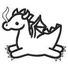 Too Cute Dragon - Outline